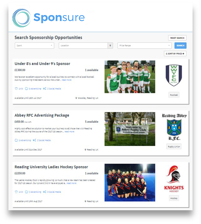 Sponsure, Provide sponsorship, increase sales, drive marketing, brand awareness