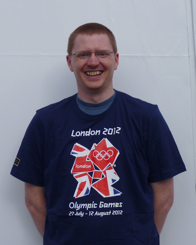 Malcolm supporting the London Olympics, sport