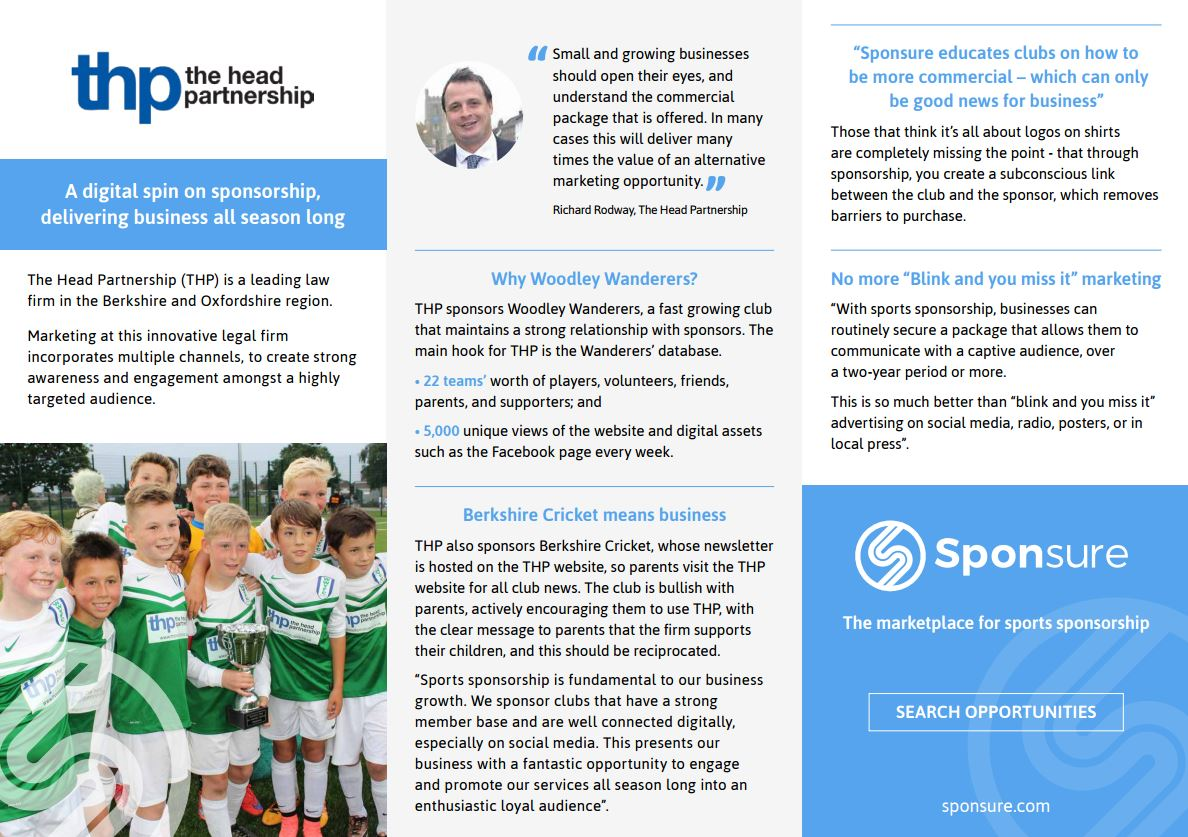 Increase sales and marketing with sport sponsorship